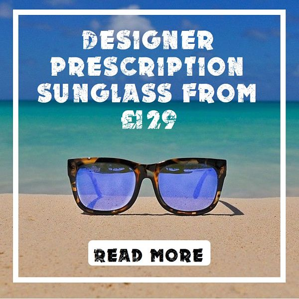 Designer prescription sunglasses from £129