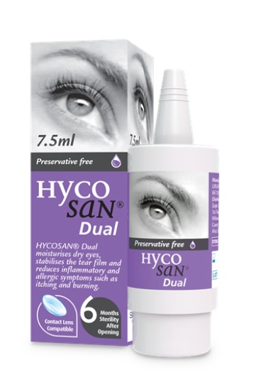 Hycosan Dual – New eye drop on the market for allergic dry eye