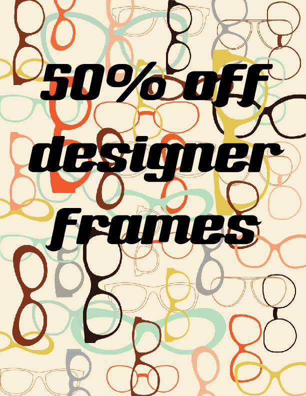 Designer frame sale | 50% off selected ranges