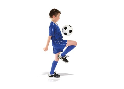 Contact lenses for children and sport football - Peter Ivins Eye Care