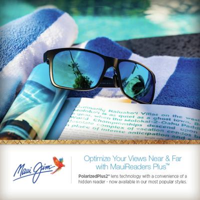 Maui Jim Readers sunglasses with Maui Blue Hawaii lenses