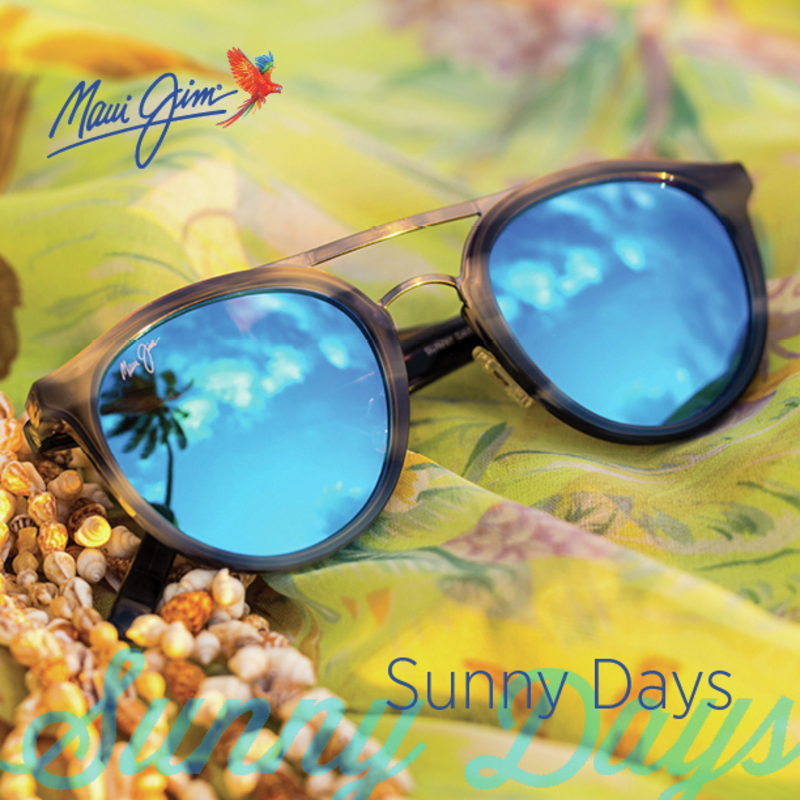 Maui Jim Sunny Days polarised sunglasses with blue hawaii lenses